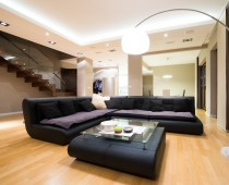 Interior of a luxury spacious living room